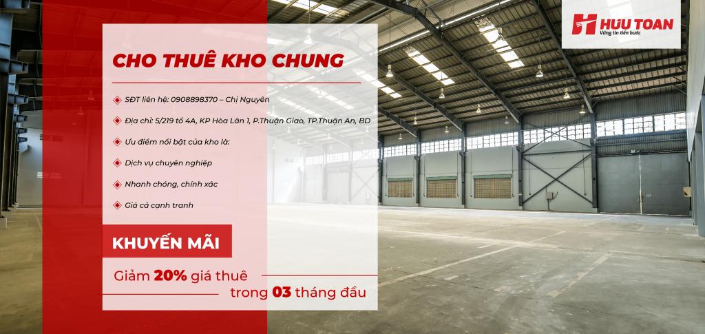 Giá cho thuê kho chung tại Hữu Toàn Logistics